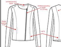 Jacket Detailed Sketch