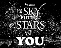 'cause in a sky full of stars I think I see you