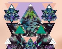 Geometric dreamy kaleidoscopic illustrations