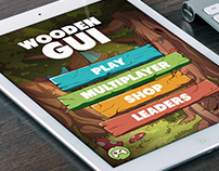 Wooden GUI for Mobile Games