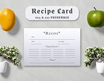 Free Minimal Recipe Card Template V3