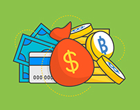 LUNO BITCOIN WALLET | Illustration & Icon Design