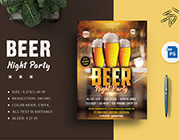 Beer Night Party Flyer Title Design