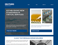 Druthers Corporate Website Concept