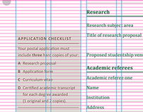 Form System for National University of Ireland – 2012