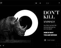 Don't Kill Animals Redesign concept