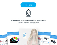 "eCommerce ios app ""Material style"""