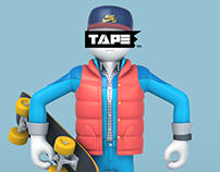 TAPE - Retro Parody Art Toy