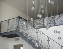 3-Form Eco-Resin Stair Rail Panels