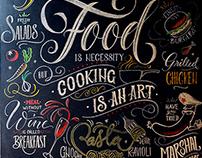 Chalkboard Lettering / Restaurant M:EATING