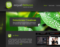 MIGUEL DEL MAZO // UI Website Design