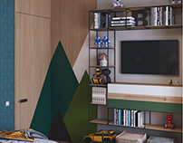 KID'S ROOM #1/1 3d visualization