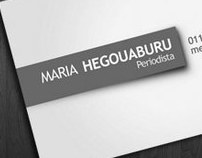 MARIA H. // Business Card Design