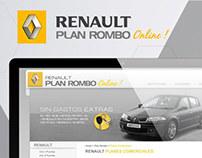 RENAULT PLAN ROMBO // UI Website Design