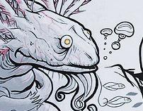 Old Axolotl mural