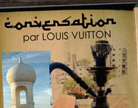 """""""Conversation"""", luxury narghile for Louis Vuitton."""