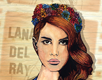 Lana Del Ray Illustration for Hot Press