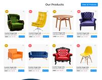 Exploration for Furniture Landing Page