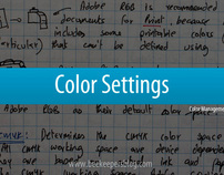 PSD Notes - Color Settings (Color Management)