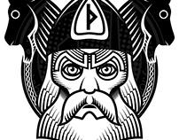 Nordic Gods t-shirt designs.