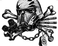 Star Wars - Rogue One Death Trooper Artwork