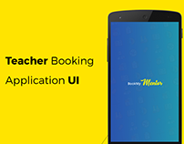 Teacher booking app UI