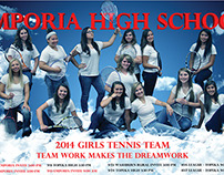 2014 Emporia High School Tennis Poster