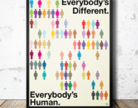 "Say Something poster ""Everybody's Human"""