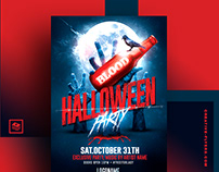 "Halloween Flyer PSD Template ""Adobe Photoshop"""