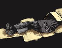 Homeless Sleeping - Digital Painting