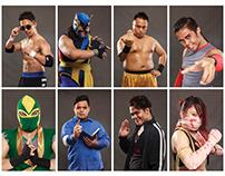 Manila Wrestling Federation Character Logos