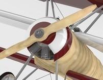 Airplane . Fokker.DR.I . Modelação 3D