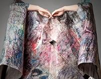 Kimono - experimental paper textile