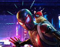 Miles Molares Spider-Cat Poster