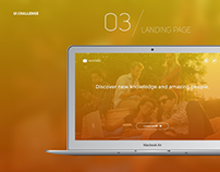 UI Daily Challenge / 03 - Landing Page