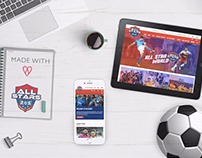 Website Design & Development - All Stars Football Club