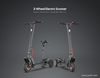 PXID 3-wheels electric scooter design