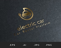 L007 - Electric Car Logo Template