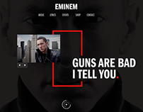 Tribute to Eminem - Webpage Design