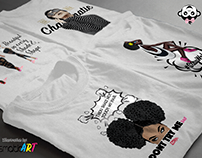 Pop Art Illustrated Women Fitted Tee Designs