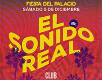 Flyer para El Sonido Real en el C.C. Matienzo