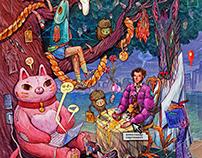 Lukomorye - a fairytale collab for Adobe Russia