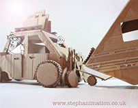Cardboard vehicles