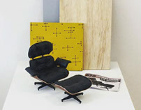 Miniatura Lounge Chair + Ottoman