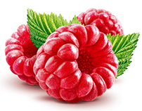 Raspberry food illustration and retouching
