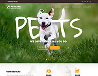 PETCARE - Pet Sitter and Veterinary Theme.