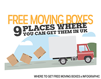 WHERE TO GET FREE MOVING BOXES x INFOGRAPHIC DESIGN