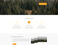 One Page App Landing PSD Theme
