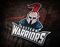 EASTERN WARRIORS AMERICAN FOOTBAL LOGO CONCEPT