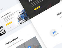 Auto Transport Software Landing page